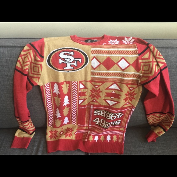 Nfl Team Apparel Sweaters 49ers Ugly Christmas Sweater Poshmark